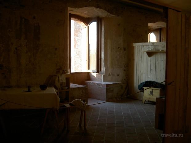 Римини. Комната в замке Сиджизмондо