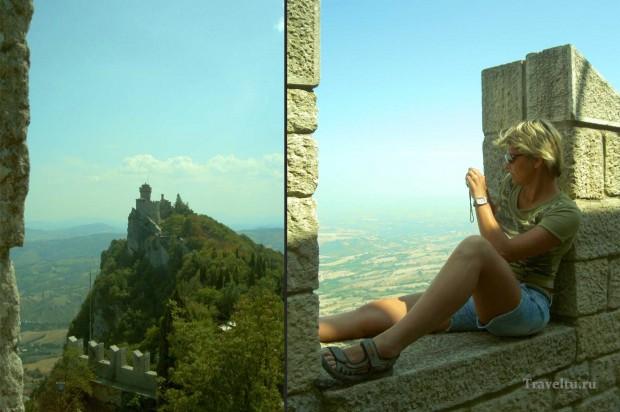 Поездка из Римини в Сан-Марино. Галя и крепость