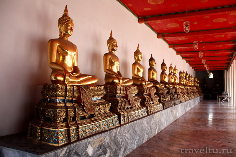 Храм Лежащего Будды, Ват Арун и река Чао Прайя на речном трамвае. Статуи Будды