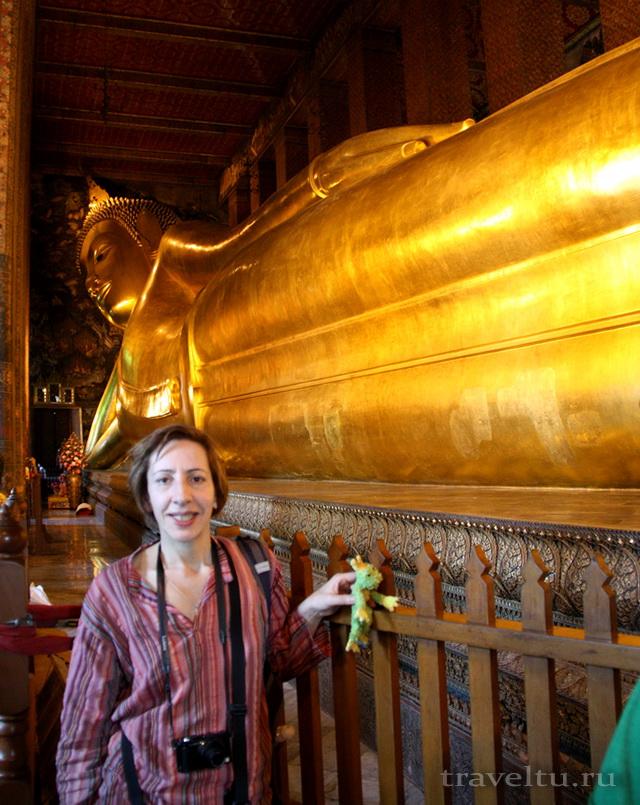 Храм Лежащего Будды, Ват Арун и река Чао Прайя на речном трамвае.Храм Лежащего Будды