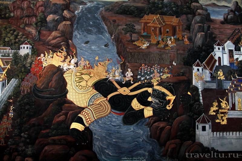 Королевский Дворец в Бангкоке и храм Изумрудного Будды. Сражение с демонами