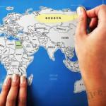Конкурс. У наших ушки на макушки.Карта мира