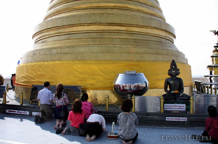Храм Ват Сакет. Бангкок. На обзорной площадке