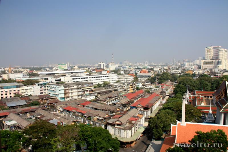 Храм Ват Сакет. Бангкок. Вид с храма