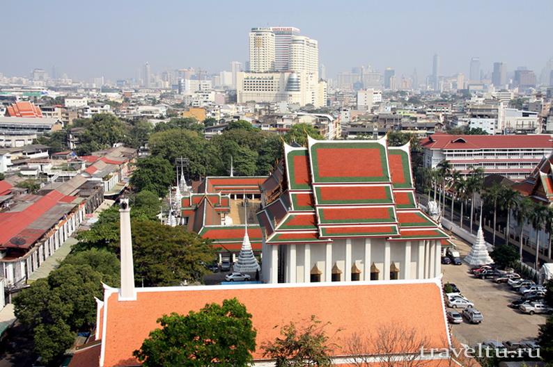 Храм Ват Сакет.Бангкок. Обзор с храма