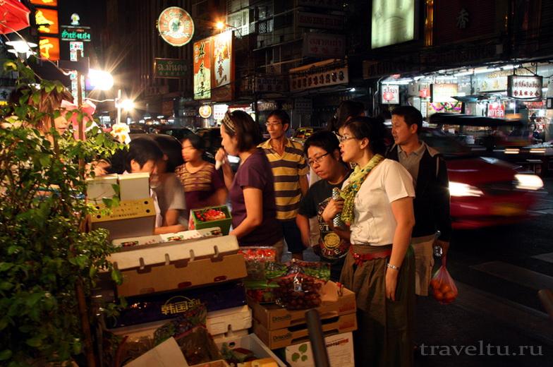 Китайский квартал Чайна-таун в Бангкоке.Рынок