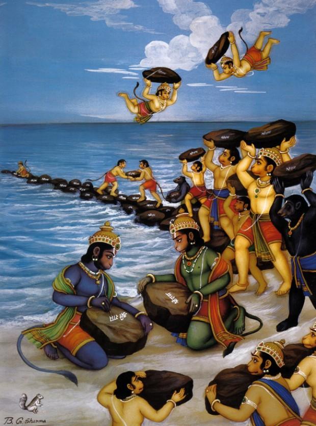 Шри-Ланка. Пройти по мосту Рамы. Обезьяны строят мост
