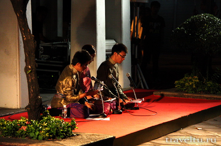 Тайские танцы. Музыканты