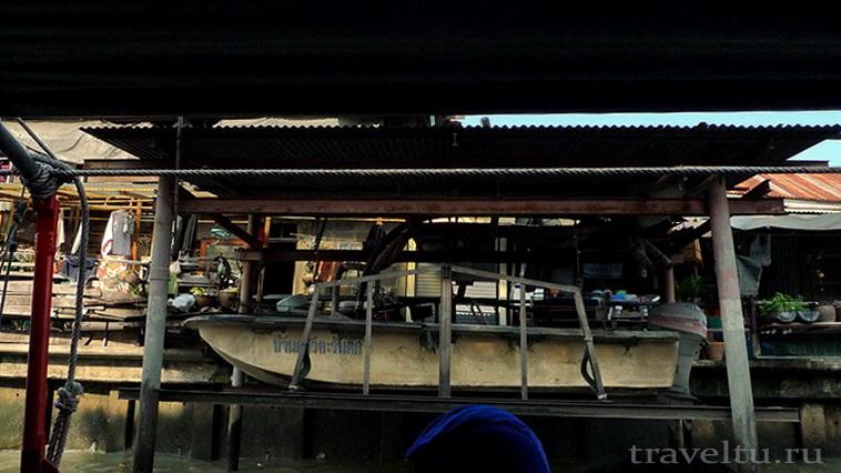 Каналы Бангкока. Лодка