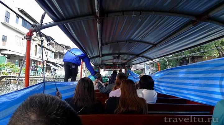 Каналы Бангкока. Речной трамвайчик Бангкока