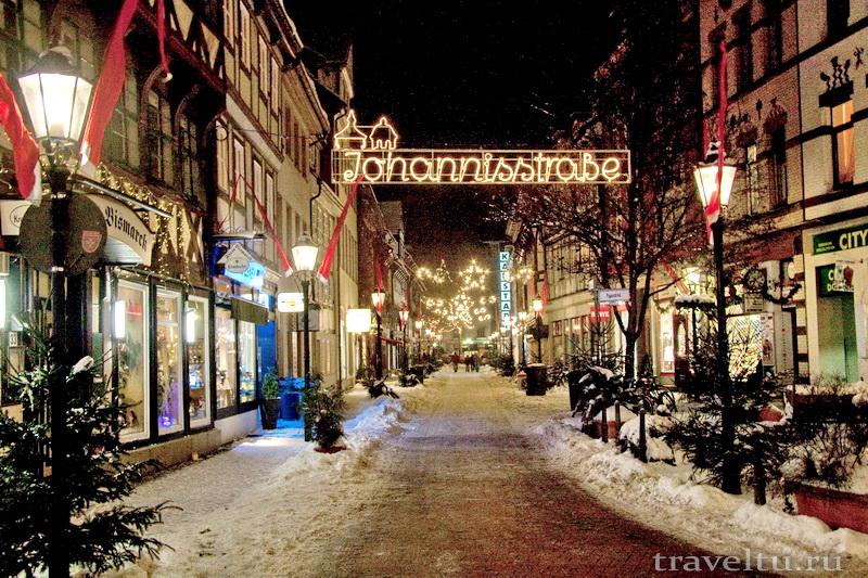 Рождество в Германии. Рождественские улицы