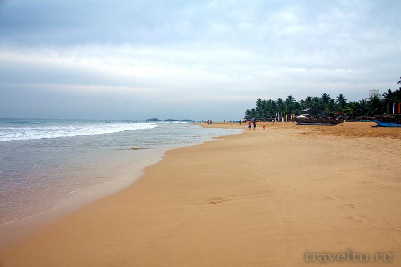 Отели Шри-Ланки. Хиккадува. Star Holiday resort. Отзыв. Пляж