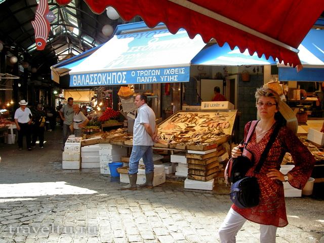 Салоники Греция. Турецкий рынок. Галя удивлена