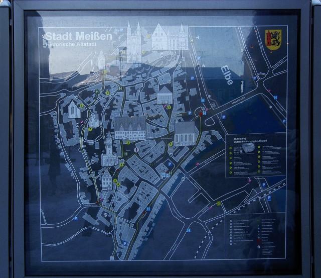 Карта исторической части Мейсена