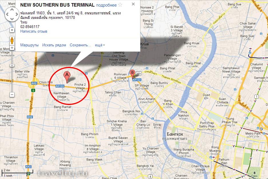 Автовокзалы Бангкока. Новый южный автовокзал. New Southern Bus Terminal