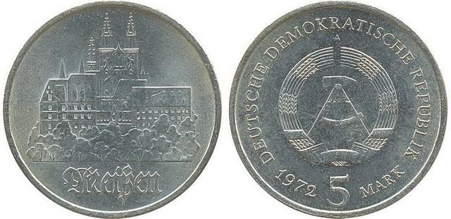 Замок Альбрехтсбург. 5 марок ГДР