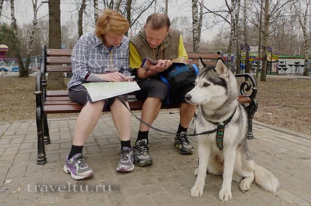 Бегущий город 2013 Участники с собакой