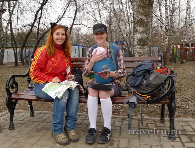 Бегущий город 2013 Совсем юный участник с мамой