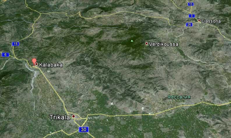Метеора Карта дорог