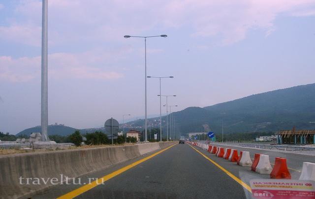Греция ремонт на автостраде