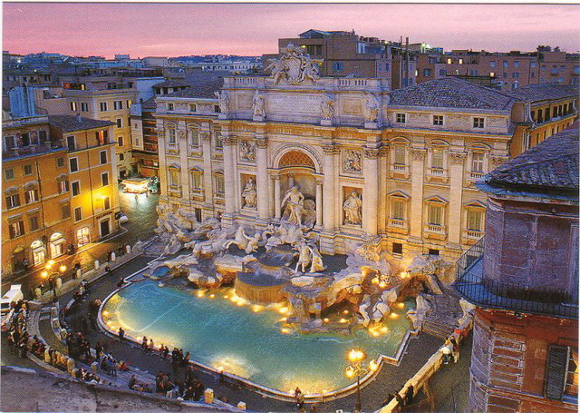 Десять самых романтичных мест Европы. Фонтан Треви