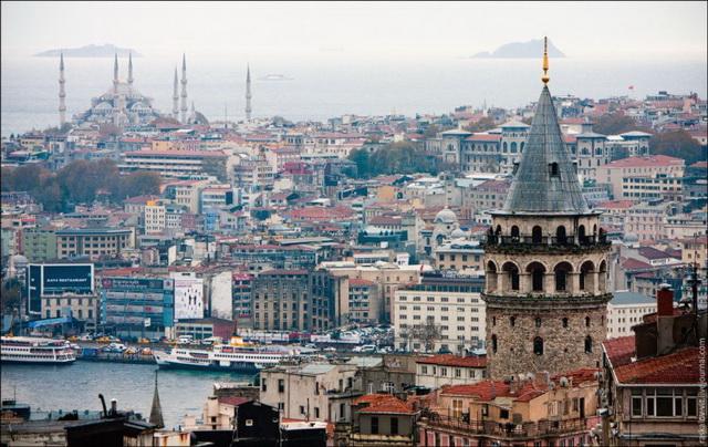 Десять самых романтичных мест Европы. Галатская Башня. Стамбул
