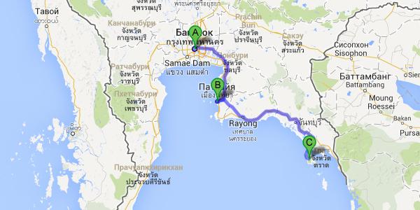 Готовый маршрут по Таиланду. Бангкок - Паттайя - остров Ко Чанг