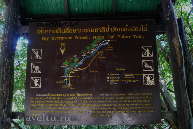 Водопад Эраван. Таиланд. Эраван схема водопада