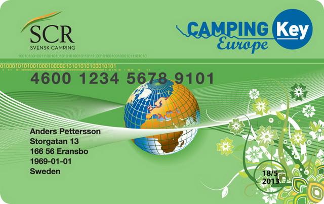 Европейская кемпинг карта. Camping Key Europe