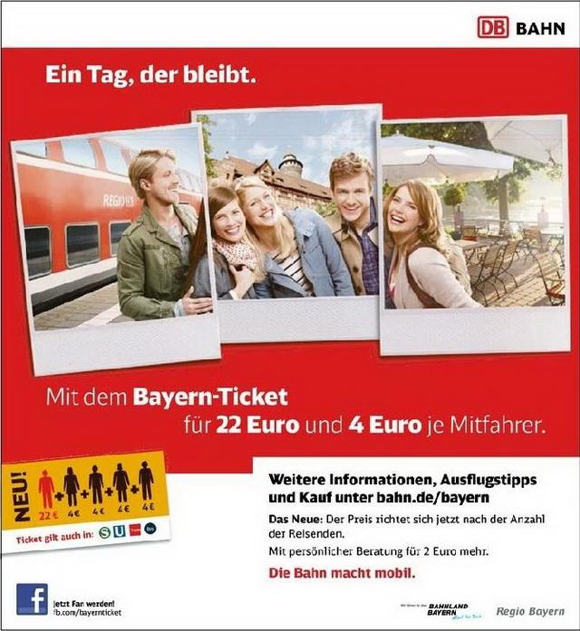 Баварский билет. Bayern Ticket