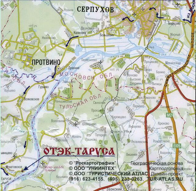 Как добраться до ОТЭК Таруса. Карта