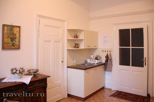 Часть кухни в Antik Apartments Брно