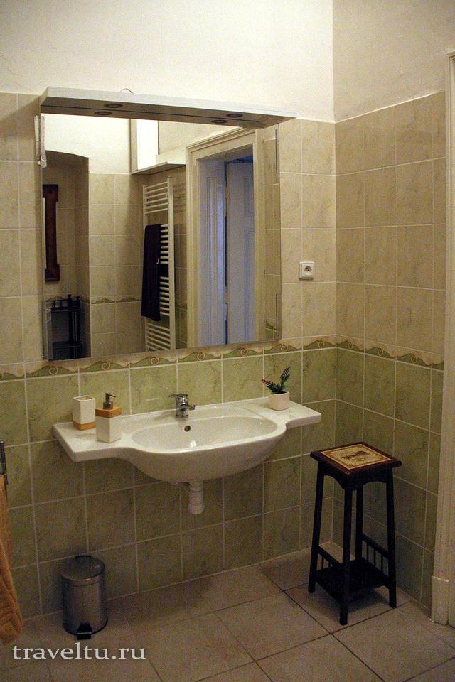 Часть ванны в Antik Apartments Брно