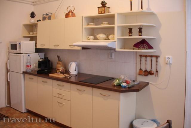 Кухонная стенка в Antik Apartments Брно