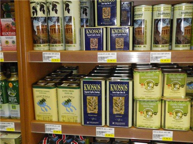 Сколько стоит оливковое масло в Греции
