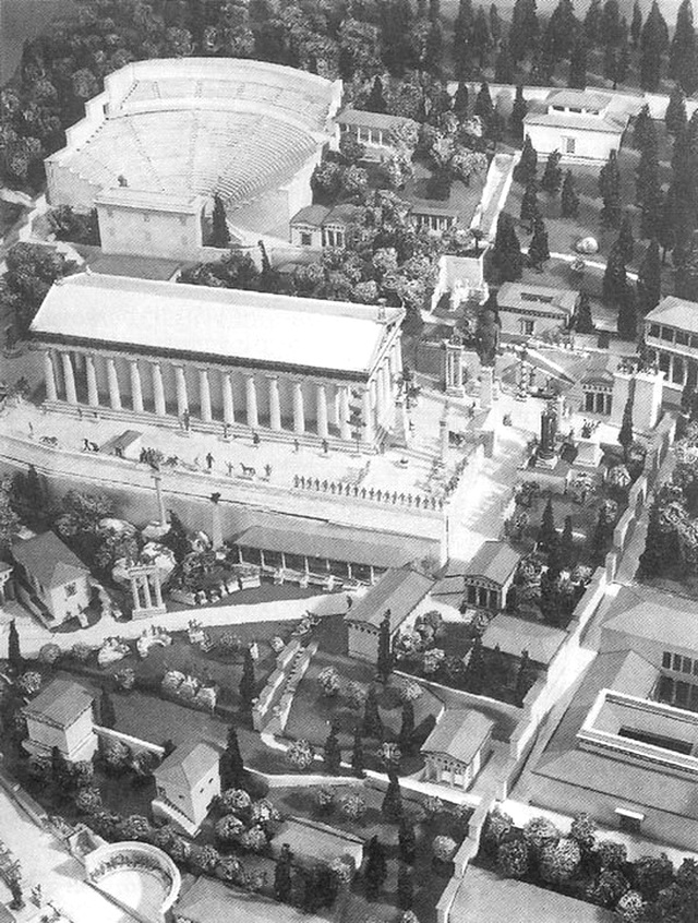 Модель святилища Аполлона. Реконструкция Х. Шлайфа, 1932