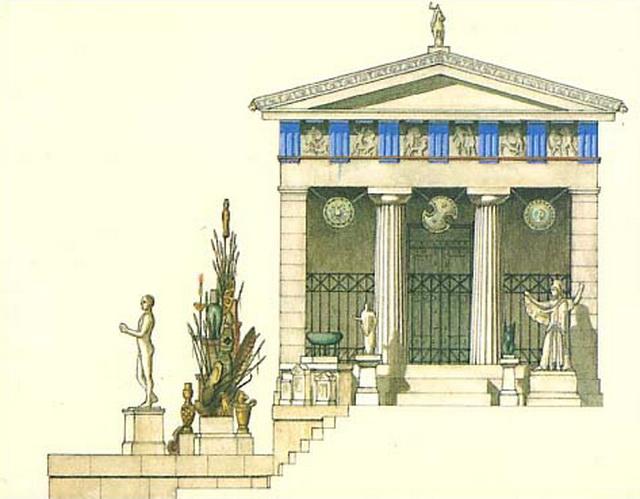 Реконструкция сокровищница афинян