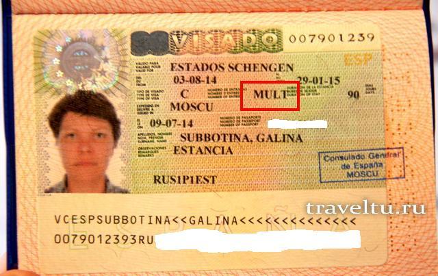 многократная виза в шенген