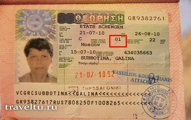 однократная виза в шенген