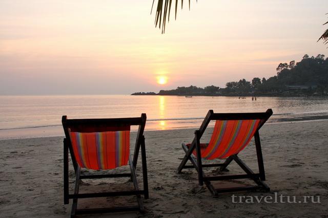 Закат на пляже Ко Чанг Чайчет Chaiche