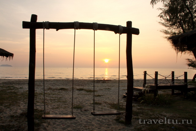 Закат на пляже Ко Чанг Чайчет