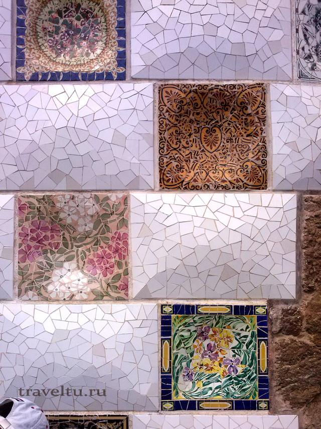 Мозайка в парке Гуэль