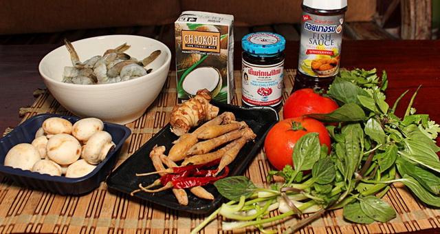 Ингредиенты супа Том Ям