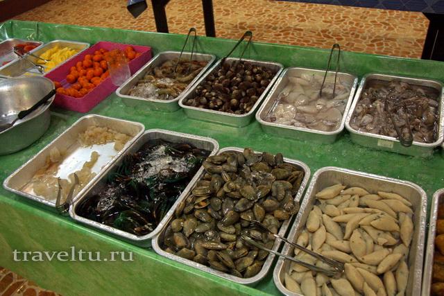 Корейское барбекю морепродукты