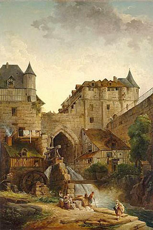 Крепость Шлоссберг на картине
