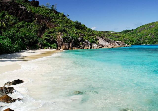 пляж на Сейшелах