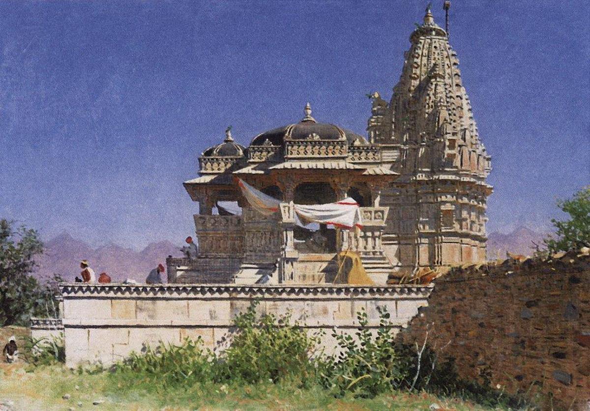 Браминский храм в Адельнуре. 1874 - 1876 гг.