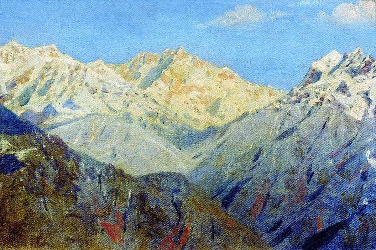 В. Верещагин Гималаи. Главная вершина 1875