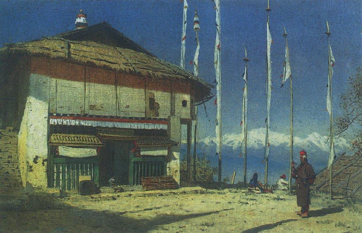 Буддийский храм в Дарджилинге. Сикким 1874 г