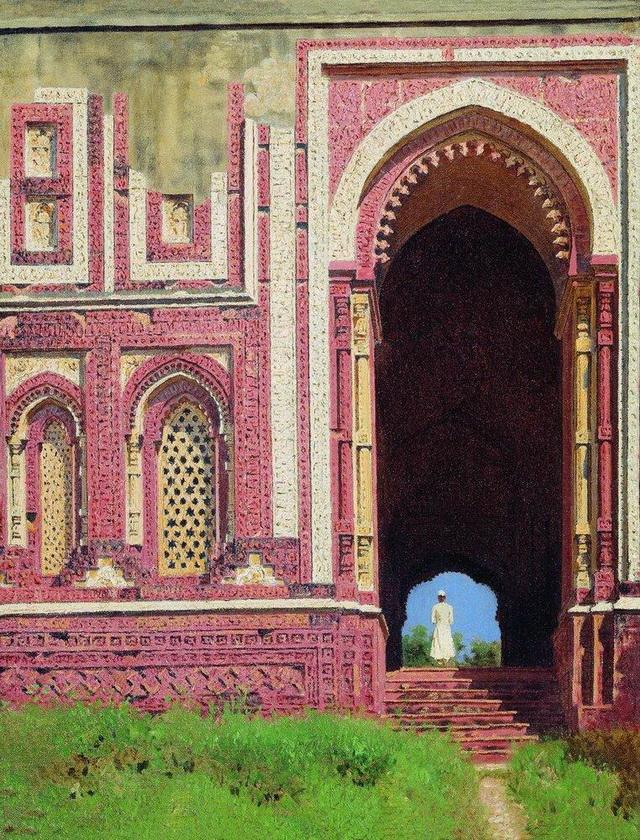 Дели Ворота около Кутуб-Минара. Старый Дели. 1875 г